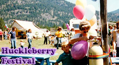 Huckleberry Festival occurs the second weekend of August Annually